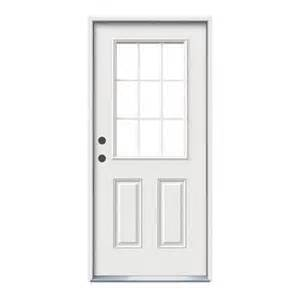 Home Depot Jeld Wen Exterior Doors - jeld wen windows amp doors 32x6 9 16 9 lite entry door rh