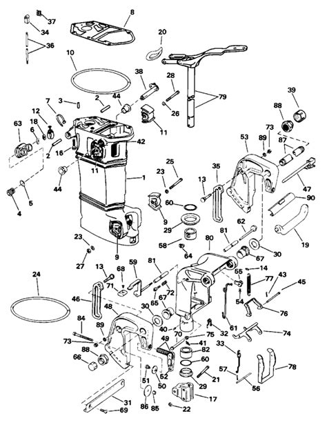 evinrude etec parts diagram i a 1996 25 hp 3 cyl out board and the steering