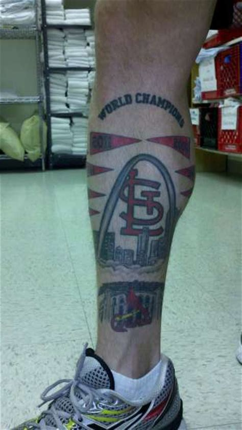 st louis cardinals tattoos world chion st louis cardinals