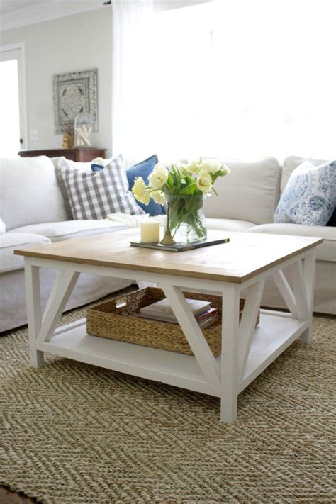 Stylish Coffee Table Plans To Base Your Next Project On Farmhouse Style Coffee Table