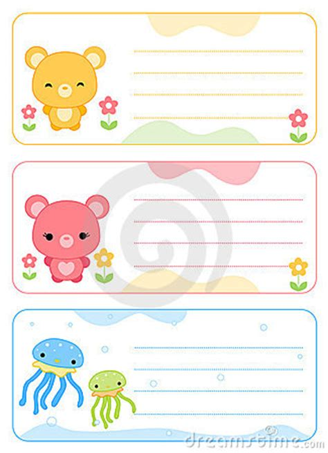 kid card template children name cards royalty free stock photo image 16189925