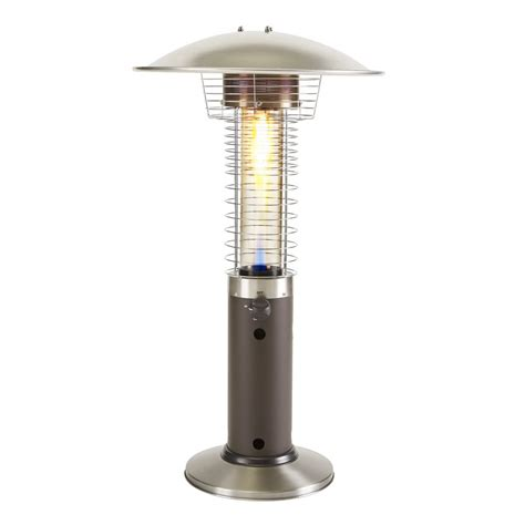 tabletop patio heaters garden treasures 11 000 btu liquid propane mocha tabletop