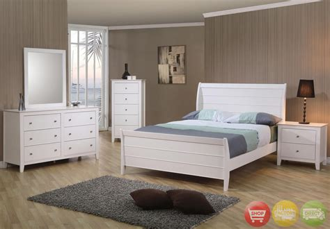 white wood bedroom furniture white wooden bed bedroom furniture 4 pc set ebay