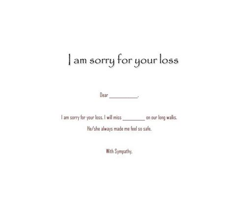 sorry for your loss card template pet sympathy cards 5 wording free geographics word templates