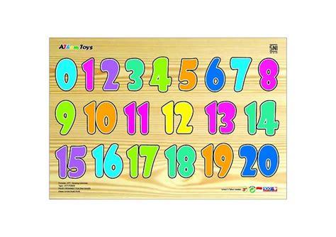 Puzzle Kayu Angka 1 20 puzzle sticker angka 1 20 mainan kayu