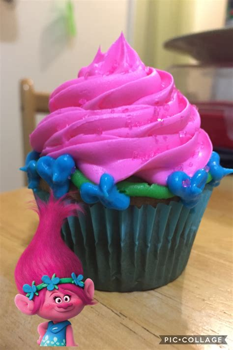 trolls cupcakes princess poppy inspired cupcake from trolls only the