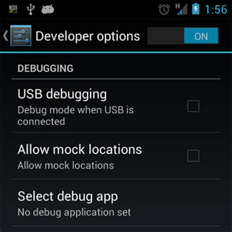 debugging app for android usb debugging