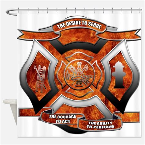 firefighter curtains firefighter shower curtains firefighter fabric shower