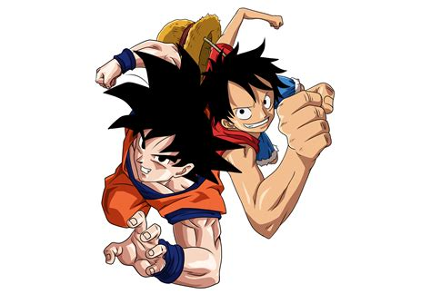 imagenes de natsu wallpaper goku and luffy png by kekoart97 on deviantart