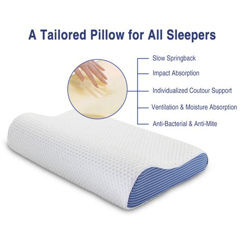 Best Anti Snore Pillow by Best Contour Memory Foam Pillow Orthopaedic Anti Snore