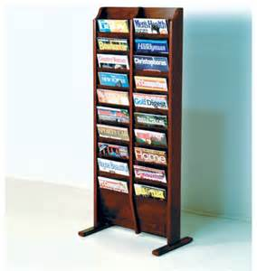 free standing twenty pocket magazine rack modern