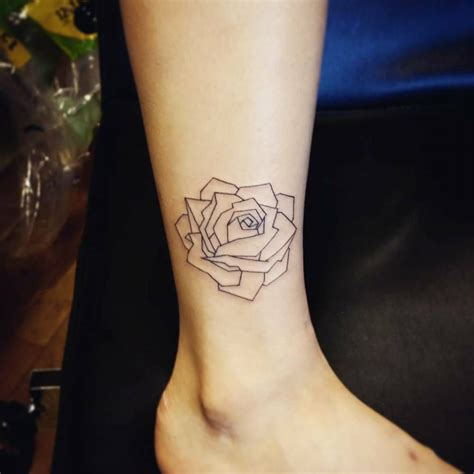 polygon tattoo shin of a polygon by shin geometric