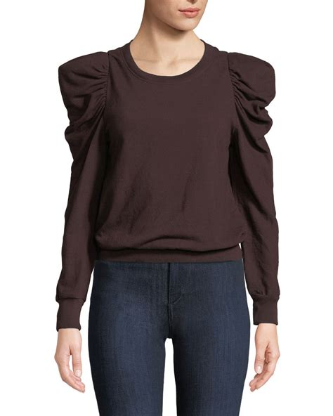Puff Sleeve Pullover a l c loma puff sleeve pullover sweatshirt neiman