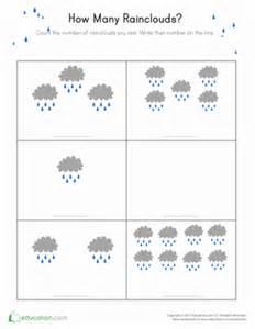 rain count worksheet education com