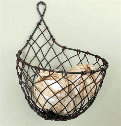 25 best ideas about hanging wire basket on