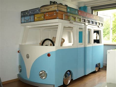 vw bus bed diy vw micro bus bunk bed and playhouse diy projects for everyone