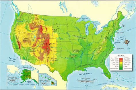 physiographic map of united states physical maps of the united states