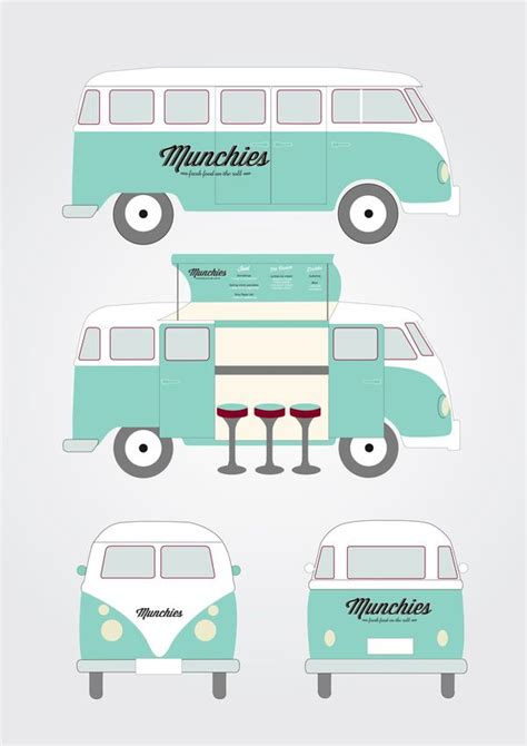 food truck design illustrator munchies food van by kristina nyjordet via behance