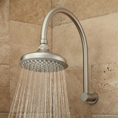 bathroom shower head ideas roux rainfall shower head with modern arm rainfall