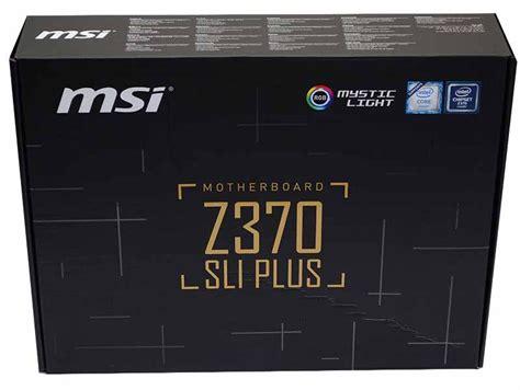 Msi Z370 Sli Plus Socket 1151 Coffee Lake Murah msi z370 sli plus motherboard review eteknix