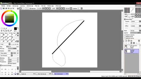 paint tool sai how to line paint tool sai curve tool tutorial