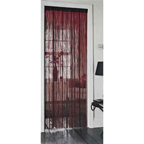 doors curtains wilko string door curtain red 90cmx200cm at wilko com