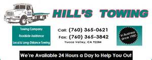Valley Towing Products Out Of Business Hill S Towing In Yucca Valley Ca 92284