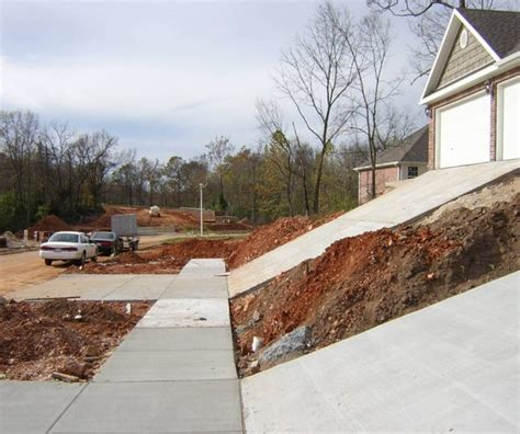 building construction maximum residential driveway slope
