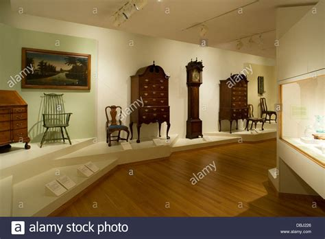 worcester museum early american furniture exhibit stock photo royalty free image