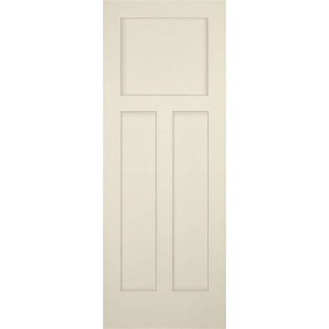 3 Panel Craftsman Interior Door Builder S Choice 30 In X 80 In 3 Panel Craftsman Solid Primed Pine Single Prehung