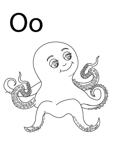 colors that start with o letter o coloring pages to and print for free