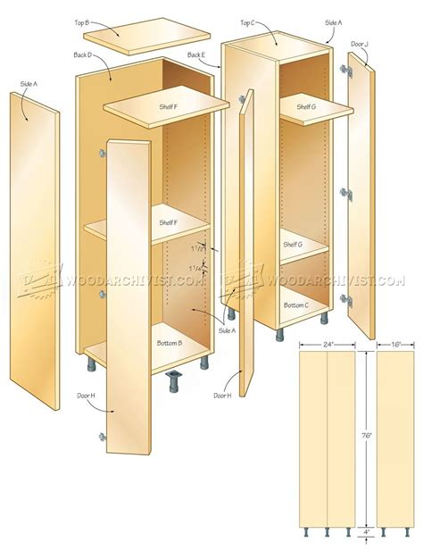 Tall Storage Cabinet Plans Woodarchivist Cabinet Door Plans Free