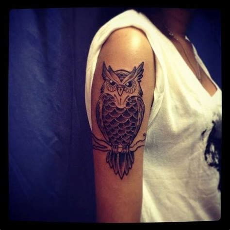 owl tattoo on woman s arm 51 owl tattoos on arm