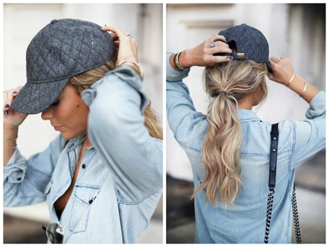 womans topper worn in ponytail the best hairstyles to wear with a baseball cap hair