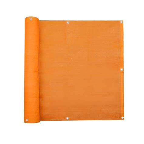 jalousie orange balkonbespannung sichtschutz 500 x 90 cm atmungsaktiv