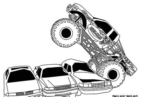 free coloring pages of monstertruck