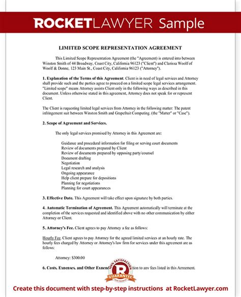 representation agreement template 28 images agency