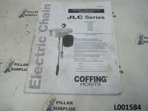 coffing jlc hoist manual wiring diagrams wiring diagram