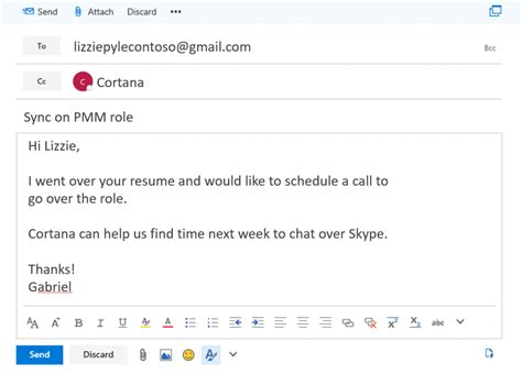email template to schedule a meeting enroll in the calendar help preview and let cortana