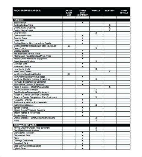 bartender schedule template restaurant kitchen closing checklist free format kitchen