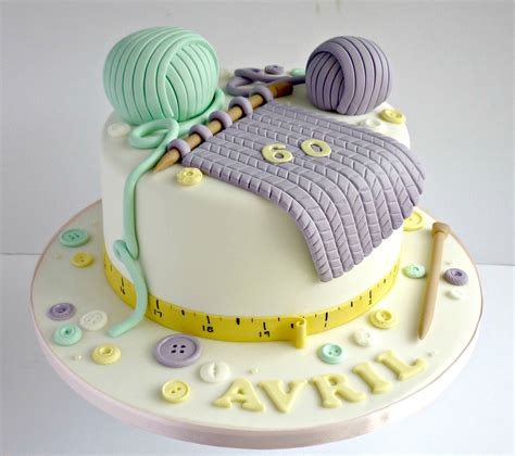 knitting cake knitting themed birthday cake swirlsbakery flickr