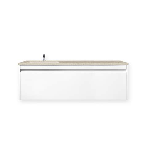 Forme Vanities Forme 1200mm Lexicon White Colourstone Wall Hung Quay Vanity