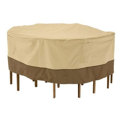 Home Depot Patio Table And Chairs Classic Accessories Veranda Large Patio Table And Chair Set Cover 78942 The Home Depot