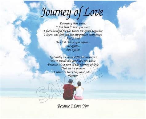 images of love journey journey of love personalized art poem memory birthday