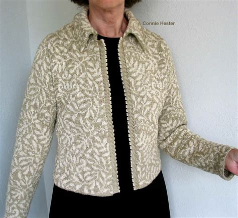 how to knit collar stranded knit jacket pattern