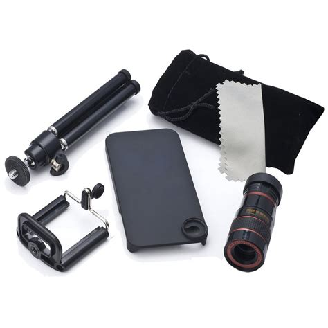 lesung telephoto lens kit 8x zoom magnifier micro telephoto lens pouch tripod for