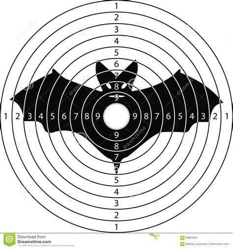printable duck targets shooting target bat stock vector illustration of retro