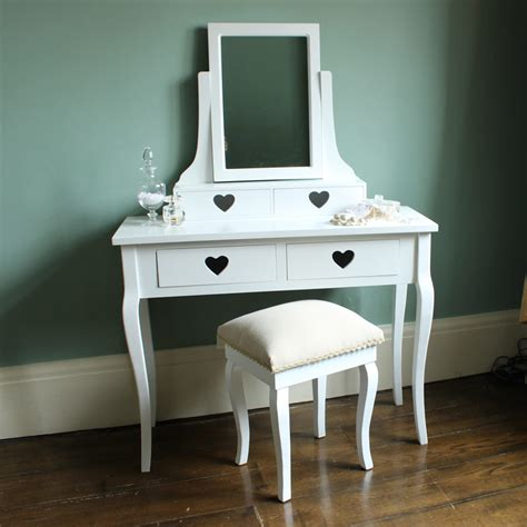 white dressing table mirror stool set bedroom