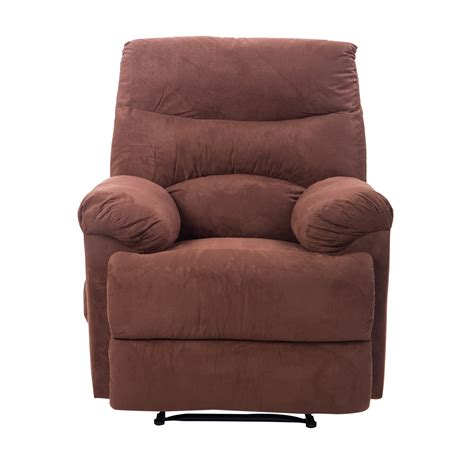 heated massage chair recliner homcom heated vibrating suede massage living room recliner