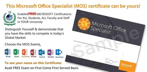 Ms Office Certification by Free Microsoft Office Certification